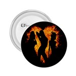 Heart Love Flame Girl Sexy Pose 2.25  Buttons Front