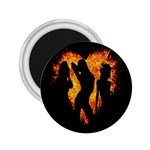 Heart Love Flame Girl Sexy Pose 2.25  Magnets Front