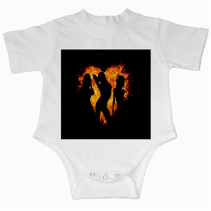 Heart Love Flame Girl Sexy Pose Infant Creepers