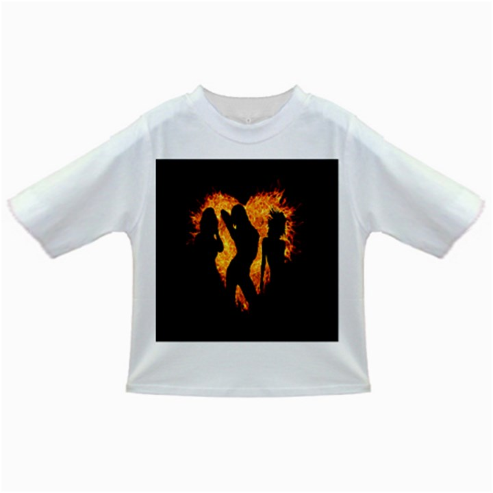 Heart Love Flame Girl Sexy Pose Infant/Toddler T-Shirts