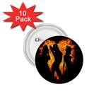 Heart Love Flame Girl Sexy Pose 1.75  Buttons (10 pack) Front