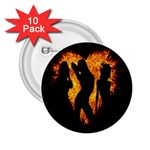 Heart Love Flame Girl Sexy Pose 2.25  Buttons (10 pack)  Front