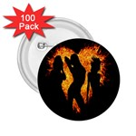 Heart Love Flame Girl Sexy Pose 2.25  Buttons (100 pack)  Front