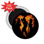 Heart Love Flame Girl Sexy Pose 2.25  Magnets (100 pack)  Front