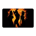 Heart Love Flame Girl Sexy Pose Magnet (Rectangular) Front