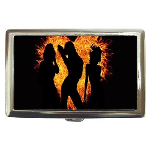 Heart Love Flame Girl Sexy Pose Cigarette Money Cases
