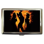 Heart Love Flame Girl Sexy Pose Cigarette Money Cases Front