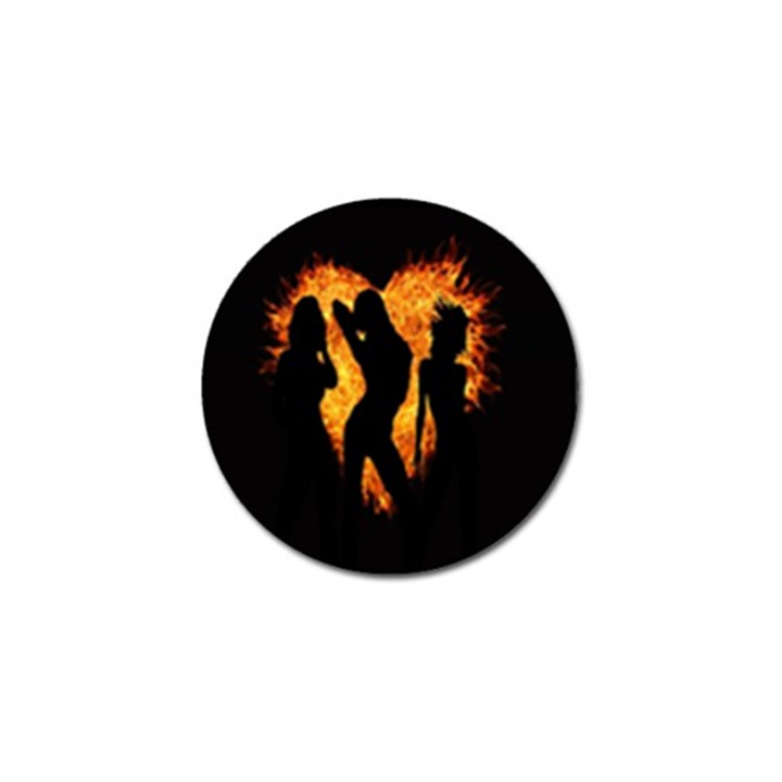 Heart Love Flame Girl Sexy Pose Golf Ball Marker (4 pack)