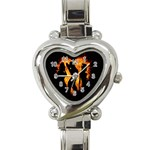 Heart Love Flame Girl Sexy Pose Heart Italian Charm Watch Front
