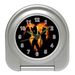Heart Love Flame Girl Sexy Pose Travel Alarm Clocks Front