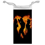 Heart Love Flame Girl Sexy Pose Jewelry Bags Back
