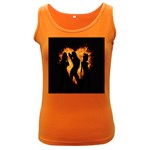 Heart Love Flame Girl Sexy Pose Women s Dark Tank Top Front