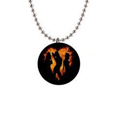 Heart Love Flame Girl Sexy Pose Button Necklaces