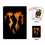 Heart Love Flame Girl Sexy Pose Playing Card Back