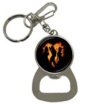 Heart Love Flame Girl Sexy Pose Bottle Opener Key Chains Front
