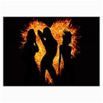 Heart Love Flame Girl Sexy Pose Collage Prints 18 x12 Print - 1