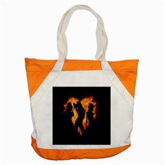 Heart Love Flame Girl Sexy Pose Accent Tote Bag