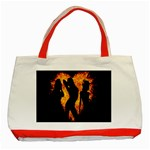 Heart Love Flame Girl Sexy Pose Classic Tote Bag (Red) Front