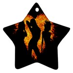 Heart Love Flame Girl Sexy Pose Star Ornament (Two Sides)  Front