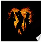 Heart Love Flame Girl Sexy Pose Canvas 12  x 12   12 x12 Canvas - 1