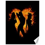 Heart Love Flame Girl Sexy Pose Canvas 12  x 16   16 x12 Canvas - 1