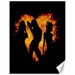 Heart Love Flame Girl Sexy Pose Canvas 18  x 24   24 x18 Canvas - 1