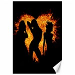Heart Love Flame Girl Sexy Pose Canvas 20  x 30   30 x20 Canvas - 1