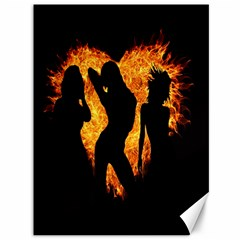 Heart Love Flame Girl Sexy Pose Canvas 36  x 48