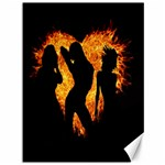 Heart Love Flame Girl Sexy Pose Canvas 36  x 48   48 x36 Canvas - 1