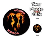 Heart Love Flame Girl Sexy Pose Playing Cards 54 (Round)  Front - Joker2