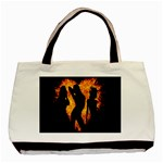Heart Love Flame Girl Sexy Pose Basic Tote Bag (Two Sides) Back