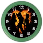 Heart Love Flame Girl Sexy Pose Color Wall Clocks Front