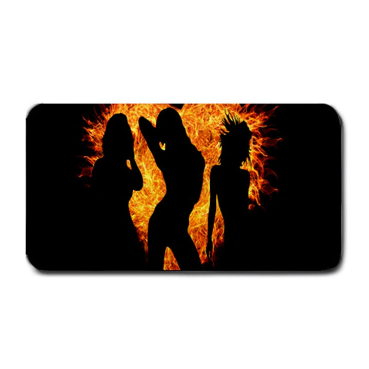 Heart Love Flame Girl Sexy Pose Medium Bar Mats
