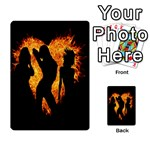 Heart Love Flame Girl Sexy Pose Multi-purpose Cards (Rectangle)  Back 40