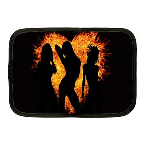 Heart Love Flame Girl Sexy Pose Netbook Case (Medium)