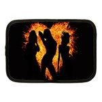 Heart Love Flame Girl Sexy Pose Netbook Case (Medium)  Front