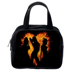 Heart Love Flame Girl Sexy Pose Classic Handbags (One Side)