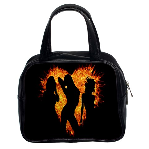 Heart Love Flame Girl Sexy Pose Classic Handbags (2 Sides)