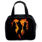 Heart Love Flame Girl Sexy Pose Classic Handbags (2 Sides) Front