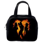 Heart Love Flame Girl Sexy Pose Classic Handbags (2 Sides) Back