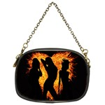 Heart Love Flame Girl Sexy Pose Chain Purses (One Side)  Front