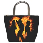 Heart Love Flame Girl Sexy Pose Bucket Bags Front