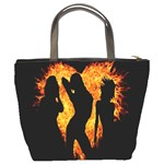 Heart Love Flame Girl Sexy Pose Bucket Bags Back