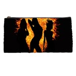 Heart Love Flame Girl Sexy Pose Pencil Cases Front