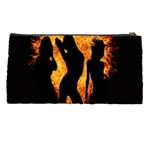 Heart Love Flame Girl Sexy Pose Pencil Cases Back