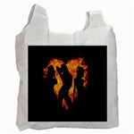 Heart Love Flame Girl Sexy Pose Recycle Bag (Two Side)  Front