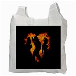 Heart Love Flame Girl Sexy Pose Recycle Bag (Two Side)  Back