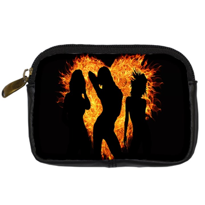 Heart Love Flame Girl Sexy Pose Digital Camera Cases