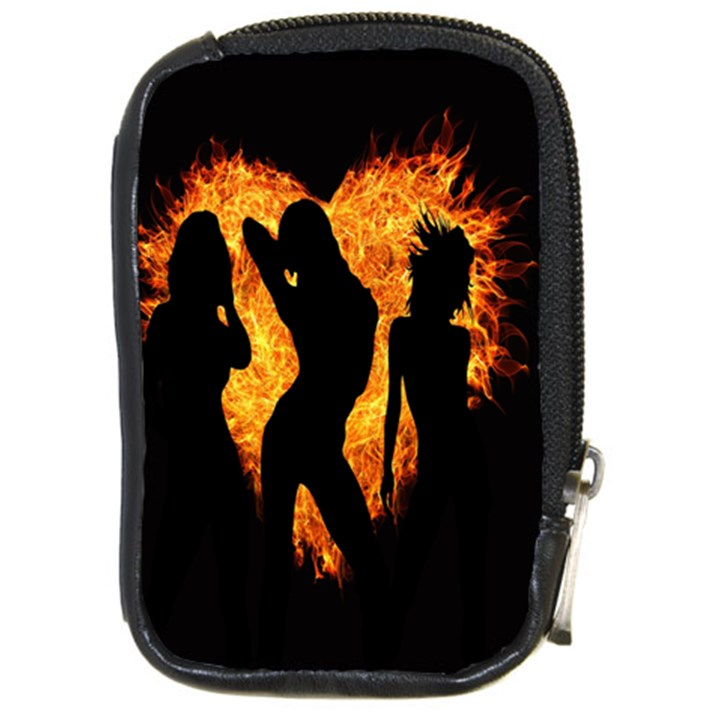 Heart Love Flame Girl Sexy Pose Compact Camera Cases