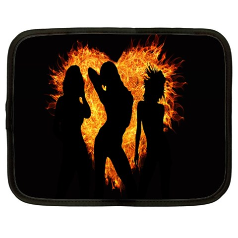 Heart Love Flame Girl Sexy Pose Netbook Case (XXL)